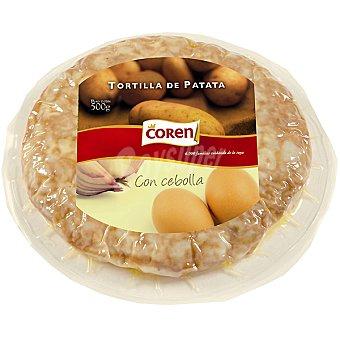 Coren Tortilla de patata de huevos de corral con cebolla Envase 500 g