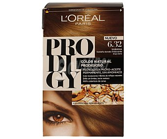 L'Oréal- Prodigy Tinte coloración extraordinaria nº 6.32 Sabana Castaño Dorado Iridiscente 1 ud