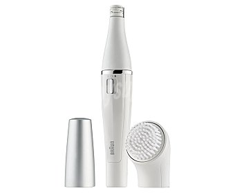 Braun Depiladora facial y cepillo de limpieza facial Face 810, uso en seco y húmedo, cabezal de depilación fino, alimentación con pila uso en seco y húmedo, cabezal de depilación fino, alimentación con pila