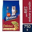 Delicious alimento para gatos selección de aves y verduras bolsa 750 gr Bolsa 750 gr Brekkies Affinity