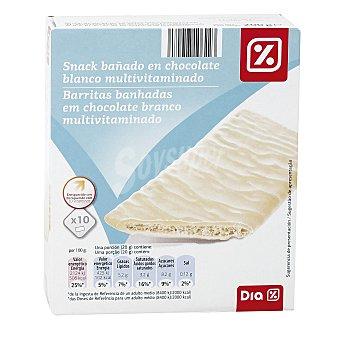 DIA Vital Snack bañado en chocolate blanco multivitaminado Caja 200 g