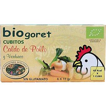 Biogoret Caldo de pollo con verduras ecológico en cubitos Estuche 66 g