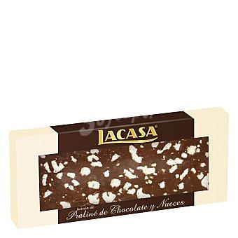 Lacasa Turrón de praliné de chocolate y nueces 250 g
