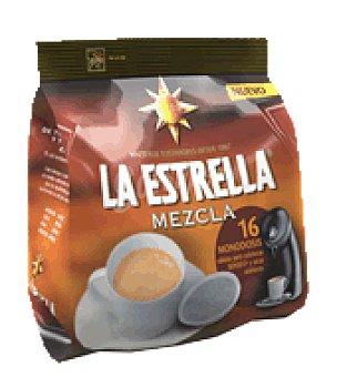 La Estrella Café mezcla monodosis Pack de 16x7 g