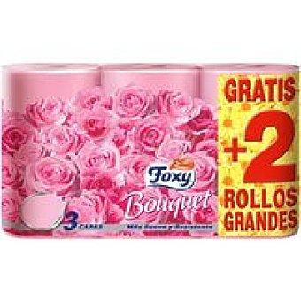 Foxy Papel higiénico color Paquete 4+2 rollos