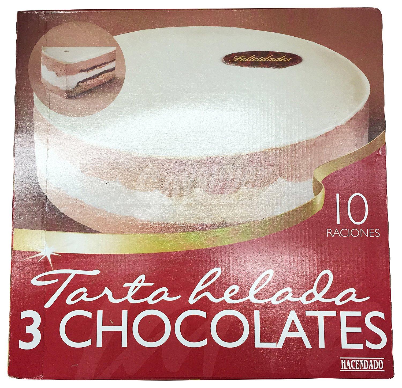 Hacendado Helado tarta tres chocolates 1200 cc
