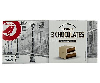 PRODUCTO ALCAMPO Turrón tres chocolates (blanco, negro y con leche) prodcuto alcampo 200 g