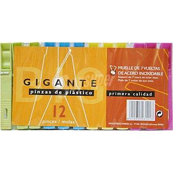 Tarres pinzas para la ropa de plástico gigantes paquete 12 unidades