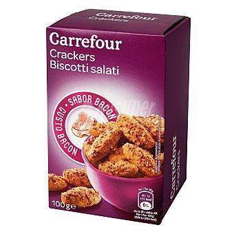 Carrefour Galletas saladas de queso y bacon 100 g