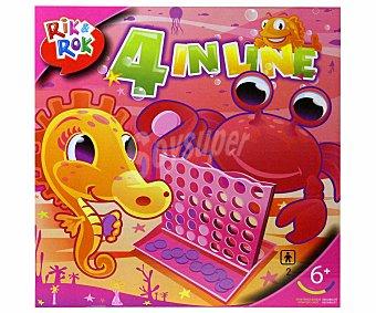 Rik&Rok Auchan Juego de mesa 4 en línea color rosa, 2 jugadores RIK&ROK.