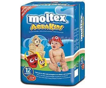 Moltex Pañales bañador para bebés de 7 a 12 unidades