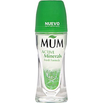 Mum Desodorante roll on Active Minerals Fresh Formula sin alcohol  Envase 50 ml