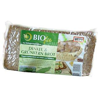 WEPU BIOFIT Dinkel & Grünkern Brot pan integral de centeno con escanda y espelta Envase 500 g