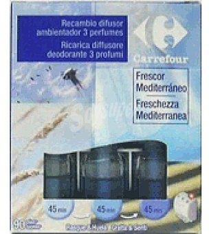 Carrefour Recambio electrico 3 fragancias frescor mediterraneo 3 ud