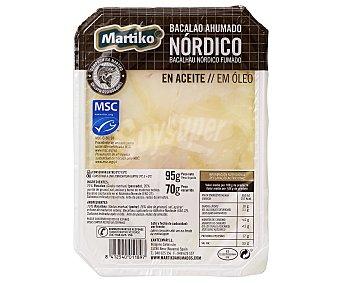 Martiko Bacalao ahumado Nórdico en aceite MSC (pesca sostenible certificada) 70 g
