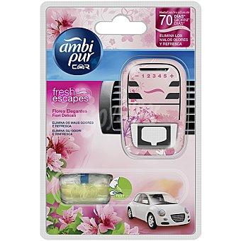 AMBIPUR CAR Ambientador de coche For Her floral y atrevida aparato + recambio