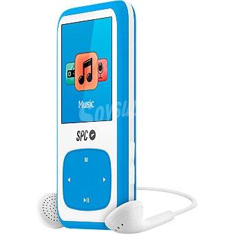 SPC TELECOM 8484A Reproductor MP4 de 4GB con radio FM en color azul