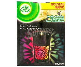 Air Wick Ambientador Vela Colour Ambiance Black Edition Suave Vainilla Blanca 1 ud