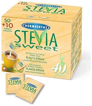 HERMESETAS Edulcorante de la planta de stevia Estuche 60 sobres
