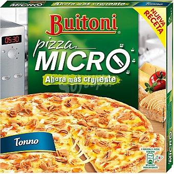 Buitoni Pizza Micro crujiente de atún y queso especial microondas Estuche 315 g