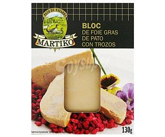 Martiko Bloque de Foie Gras de Pato con Trozos 130 Gramos