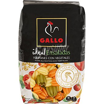 Gallo Pasta tulipanes con vegetales envase 500 g - Ideal para Ensaladas Envase 500 g
