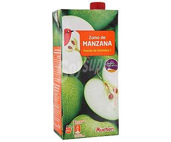 Auchan Zumo de manzana Brick de 1 litro