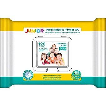 Salustar Papel higiénico húmedo Junior Natural Care paquete 120 unidades paquete 120 unidades