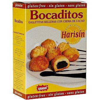 Sanavi Bocaditos galletitas rellenas de crema de cacao sin gluten Envase 150 g
