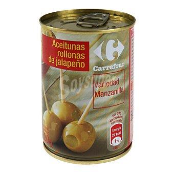 Carrefour Aceitunas rellenas de jalapeño lata 120 g