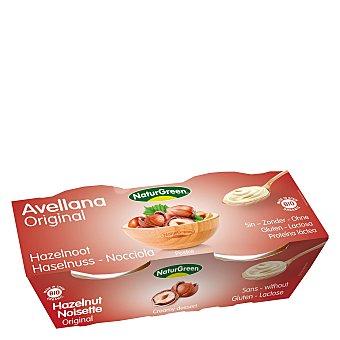Naturgreen Postre de avellana - Sin Gluten Pack de 2x125 g
