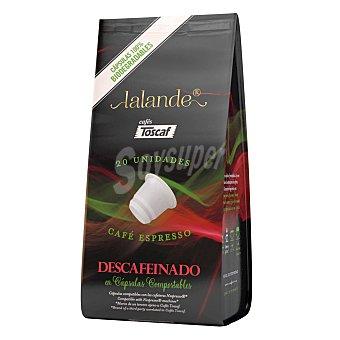 Lalande Café espresso descafeinado en Cápsulas 20 ud