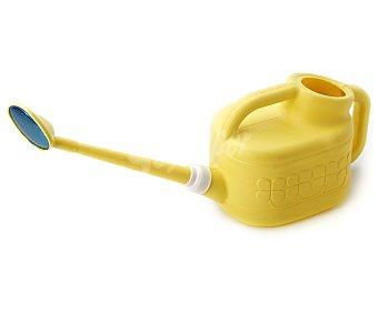 IBERLUS Regadera de plástico de color amarillo, capacidad de 6 litros y medidas de 60 x 19 x 21 centímetros 1 unidad