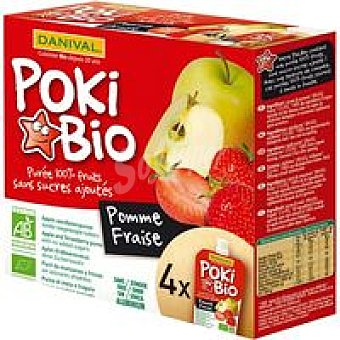 DANIVAL Poki de manzana-fresa Pack 360
