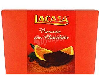 LACASA Gajos de naranja confitada recubiertos de chocolate negro 112 gramos