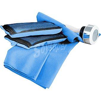 Casactual Sprint toalla lisa de microfibra en color azul 80 x 140 cm