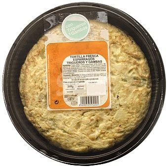 Tortilla con trigueros y gambas Envase de 300 g