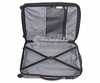 Itluggage Maleta de 4 ruedas de ABS y policarbonato, rígida y expansible de color burdeos, medidas: 54x37-43.4x23.5 centímetros 54cm