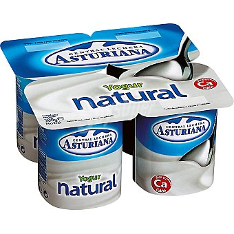 Central Lechera Asturiana Yogur natural Pack de 4x125 g