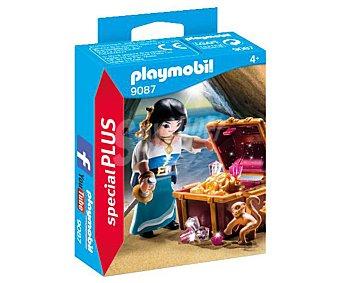 Playmobil Conjunto de juego Pirata con tesoro, incluye figura y accesorios, Special Plus 9087 playmobil