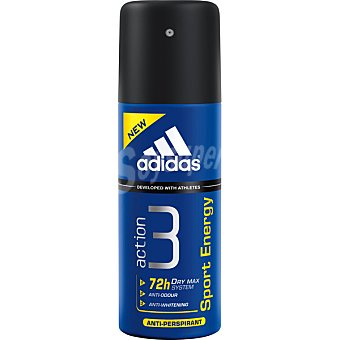 Adidas Desodorante Action 3 Sport Energy Man anti-transpirante spray 200 ml Spray 200 ml