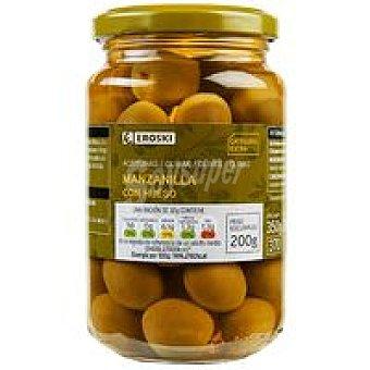 Eroski Aceitunas verdes con hueso Frasco 200 g