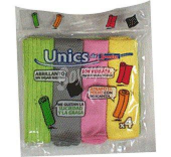 Spontex Microfibras unics kit Pack 4 uni