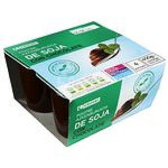 Eroski Yogur soja de chocolate 4x100g