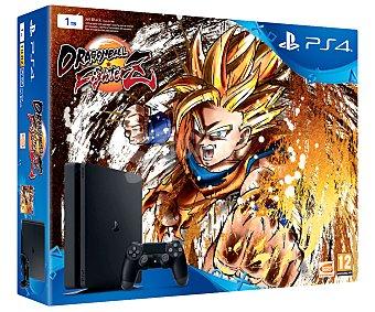 Sony Videoconsola playstation 4, edición Slim con disco duro de 1 TB + videojuego de Dragon Ball fighterz