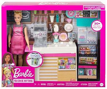 Barbie Muñeca Y su cafetería con mas de 20 accesorios barbie.