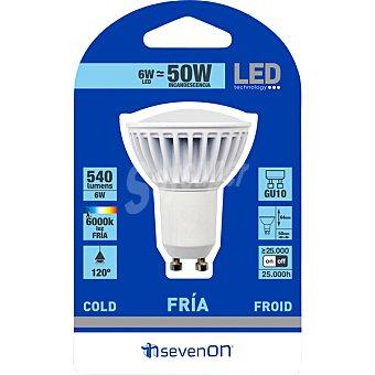 SEVENON 6 W (50 W) lampara LED blanco frio GU10