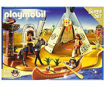 PLAYMOBIL Superset Western Campamento Indio, incluye 3 figuras y accesorios, modelo 4012 1 unidad