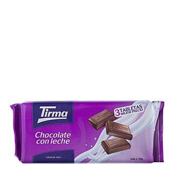 Tirma Chocolate con leche Pack de 3x150 g