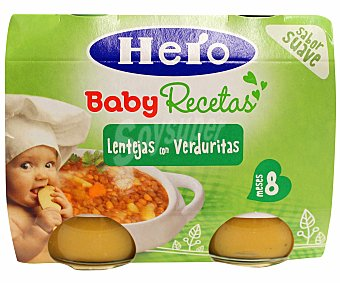 Hero Baby Lentejas con verduras recetas caseras 2x190g